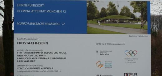 Neues zum Erinnerungsort für die Opfer des Olympia-Attentats