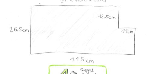 Bungalowidee: Küchenschrank-Regal