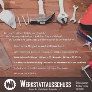 Konstituierende Sitzung  @ Holzwerkstatt (unter Waschsalon)