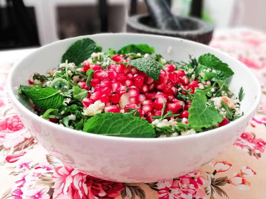 Orientalischer Bulgur-Granatapfel-Salat